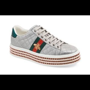 Gucci Woman's Ace Sneaker with Crystals - Size 6.5